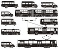 Vector hi-detailed public transportation set Stock Photo