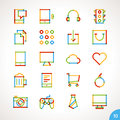 Vector highlighter line icons set for any purpose Stock Photos