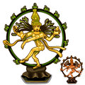 Vector Hindu figurines of Cali on white background
