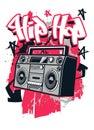 Hip Hop style t shirt design Royalty Free Stock Photo