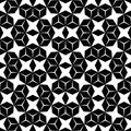 Vector hipster abstract geometry pattern, black and white seamless geometric background