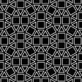 Vector hipster abstract geometry pattern square, black and white seamless geometric background, subtle pillow and bad sheet print
