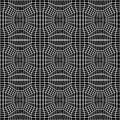 Vector hipster abstract geometry trippy pattern with 3d illusion, black and white seamless geometric background