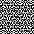 Vector hipster abstract psychadelic geometry trippy pattern with 3d illusion, black and white seamless geometric background