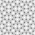 Vector hipster abstract sacred geometry pattern, black and white seamless geometric background, subtle pillow and bad sheet print