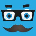Vector hipster avatar with geek glasses and mustache this is file of eps format Royalty Free Stock Images