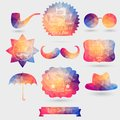 Vector Hipster background made of geometric pattern. Retro label Royalty Free Stock Photo