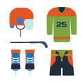 Vector hockey uniform accessory in flat style.