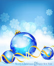 Vector holiday blue background with blue balls Royalty Free Stock Image