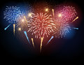 Vector holiday firework Royalty Free Stock Photo
