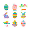 Vector Holiday Set Happy Easter