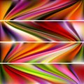 Vector horizontal banner collection of abstract multicolored backgrounds mesh illustration Stock Photo
