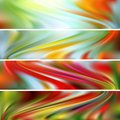 Vector horizontal banners Royalty Free Stock Photo