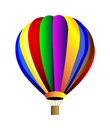 Vector hot air balloon colorful isolation over white background Royalty Free Stock Photo