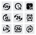 Vector hours symbols this is file of eps format Royalty Free Stock Images