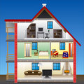 Vector house Royalty Free Stock Photography