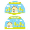 Vector house illustration home sweet home logo Stock Images