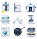 Vector household appliances icons. Part 3 Stock Images