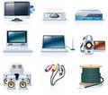 Vector household appliances icons. Part 7 Royalty Free Stock Images