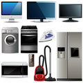 Vector household electronic elements Royalty Free Stock Photography