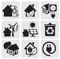 Vector houses Stock Images