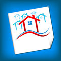 Vector houses real estate new frame illustration Royalty Free Stock Photography