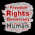 Vector human rights political freedom, democracy
