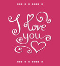 Vector I love you Lettering design for Happy Valentines Day