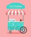 Vector ice cream cart
