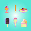 Vector ice cream design for background Stock Photography
