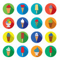 Vector ice cream icons Stock Images
