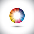 Vector icon of bright colorful trendy modern circle this graphic illustration represents a wheel with parts in motion Royalty Free Stock Photography