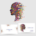 Vector icon design element, business card template Royalty Free Stock Photo