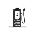 Vector icon for electric vehicle charging station. Electric car recharge icon.