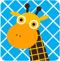 Vector icon illustration of cute animal giraffe baby Stock Images