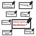 Vector icon of literary genres nonfiction book Stock Photos