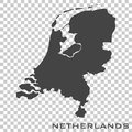 Vector icon map of Netherlands on transparent background Royalty Free Stock Photo