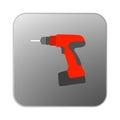 Vector icon orange drill.