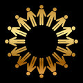 Vector icon people standing circle Stock Photos