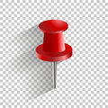 Vector icon red push pin. Royalty Free Stock Photo