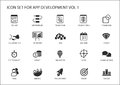 Vector icon set for app / application development. Reusable icons and symbols Royalty Free Stock Photo