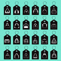 Vector icon Set of Fashion Bags Royalty Free Stock Photo