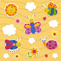 Vector icon set insects Royalty Free Stock Photo
