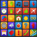 Vector icon set multimedia mobile software soft and application buttons Royalty Free Stock Photography