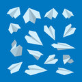 Vector icon set of Origami plane collection