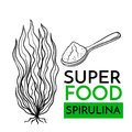 Vector icon superfood spirulina