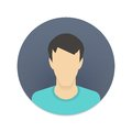 Vector icon of user avatar for web site or mobile app man face in flat style social network profile Stock Images