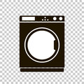 Vector icon of a washing machine.