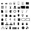 Vector icons for business or internet eps Stock Photo