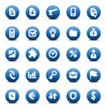 Vector icons for business metaphors Royalty Free Stock Photo